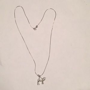 Jewelry - Sterling Silver Camel Pendant and Chain.